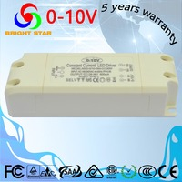 No noise noflicker 10W 20w 30W 40W 50W 60W constant current output 0-10v 1-10v dimmable led driver
