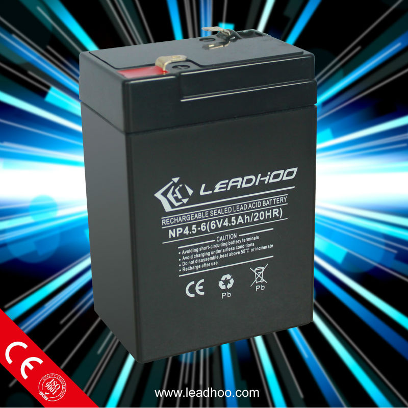 70*48*101*106 mm 6V4.5Ah high container lead acid battery
