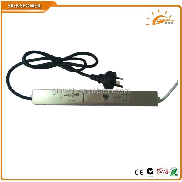 constant voltage ip67 waterproof 45w led driver 24v with ce rohs saa ctick approved