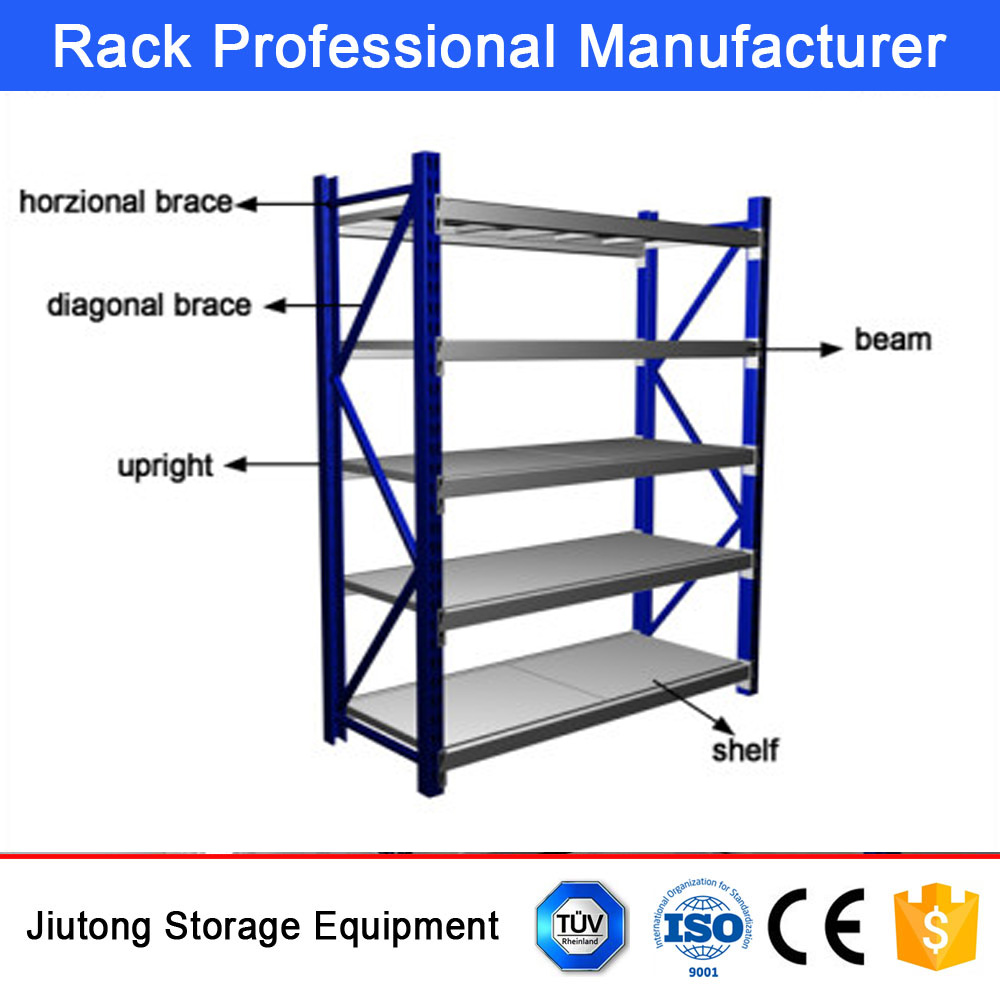 Warehouse Storage Steel Medium Duty Shelving for Storage System Solutions