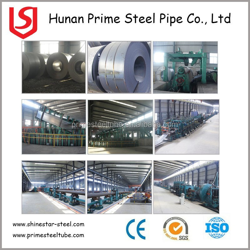API Steel Pipe Chemical Industry Gas Transportation Tubing ASTM A53 ERW Steel Pipes For Oil Tubing