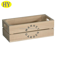 Factory Supply Custom Mini Wooden Storage Crates Wholesale