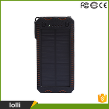 High capacity 10000mah portable waterproof solar power bank
