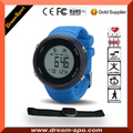 BSCI Factory Heart Rate Sport Watch with 5.3Khz Heart Rate Sensor Large Dial Soft Rubber Band