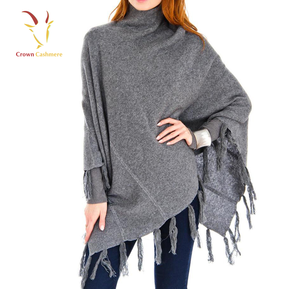 New Fashion Pashmina Wrap Fringed Ponchos Cashmere Poncho