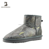 Manufacturer wholesale shoes Italian winter shoes boots Real Fur insole snow boots women