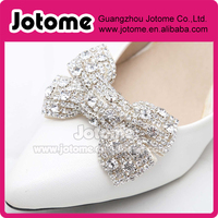 Wedding Rhinestone Bow Shoe Clip Embellishment