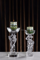 Pure manual exquisite glass candle holders burning products and wedding decoration