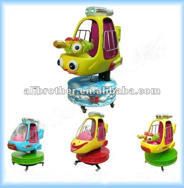 Attractions Indoor Playground Coin Operated kiddie rides helicopter for children
