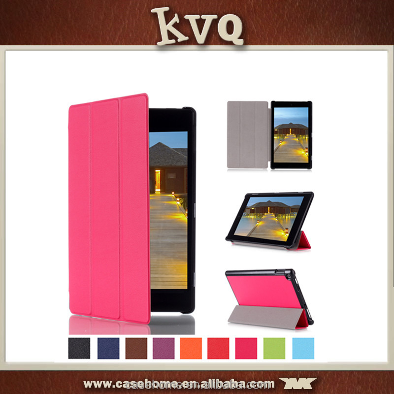 In stock 8 Inch Foldable Stand PU Leather Flip Case for Kindle Fire HD8