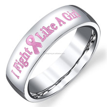 Stainless Steel Polished Fashion Cancer Ribbon Ring Wholesale