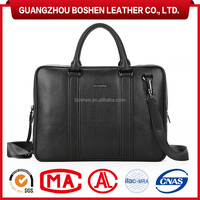 Executive Laptop Bag Mens Genuine Leather Briefcase