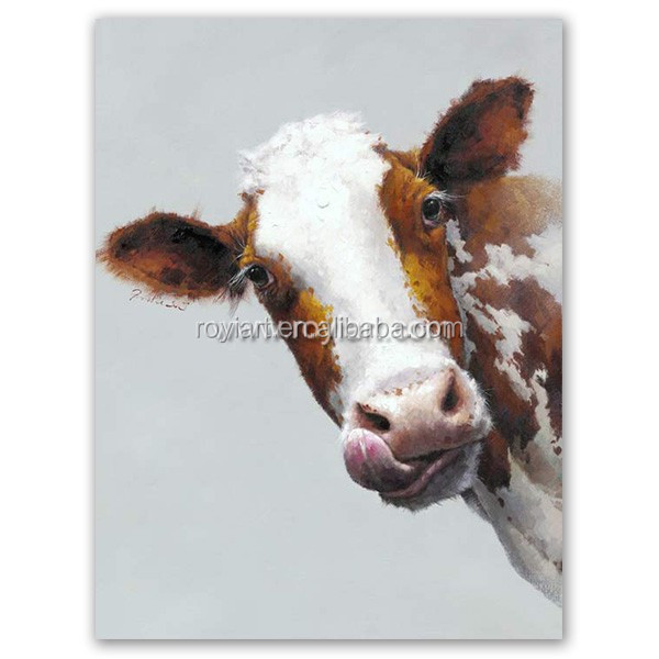 2016 Modern dairy cow Oil Painting for sale