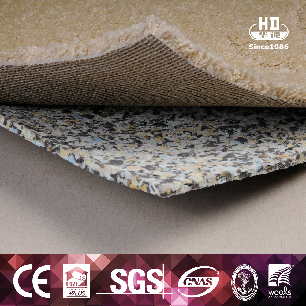 Durable Eco Friendly Colorful Comfortable Memory Foam Carpet Underlay