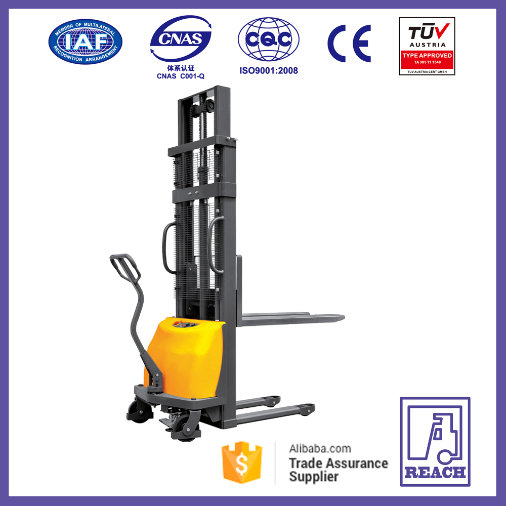1ton 1.6-3 m different height for semi electric pallet stacker forklift with CE certificates