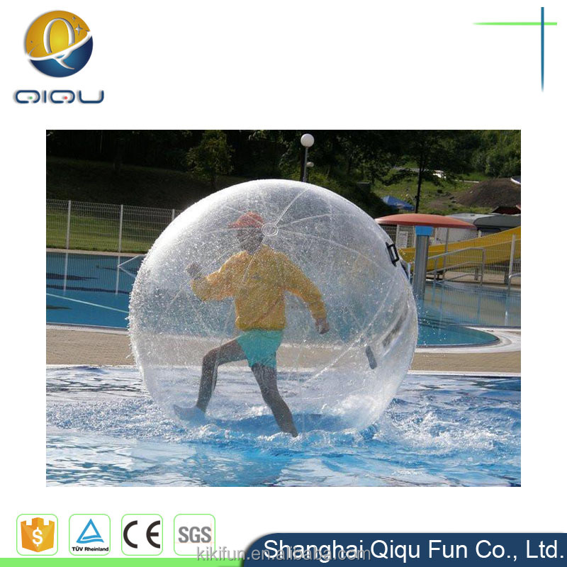 Customized diameter 2 m TPU material Water Walking Ball with free CE pump for sale