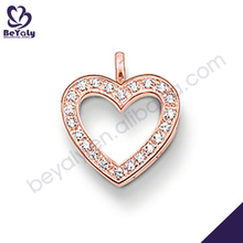 Rose gold plating heart design jewelry mountings settings pendants
