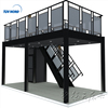 Aluminum extrusion trade show booth two story double deck display stand builder