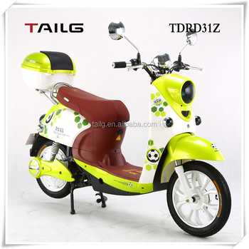 China manufacture TAILG adult electric motorcycle pedal moped lady scooter for China