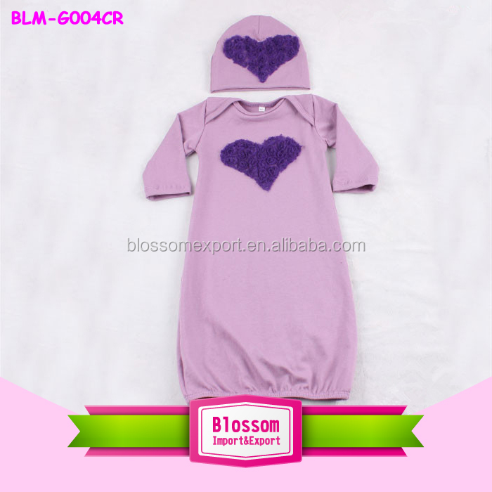 infant baby girls winter gowns sleeping long sleeve gowns winter wear pajamas girls sleeping gowns with hat clothing