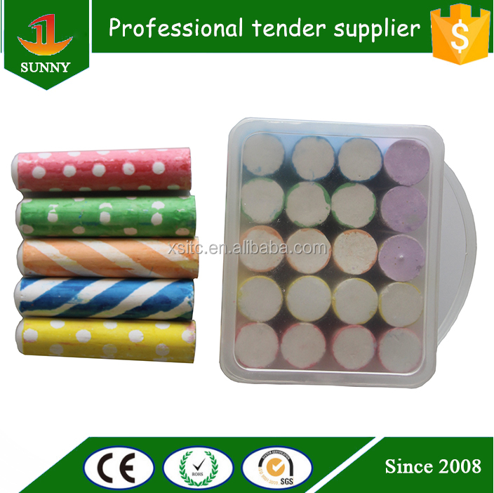 high quality dustless red street sidewalk chalk with holder