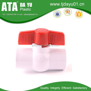 pvc plastic compact ball valve scoket & thread ends for water irrigation