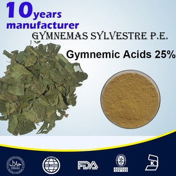 Solvent Extraction type Free Sample Gymnema Sylvestre Leaf Extract Powder Gymnemic Acids 25% 45% UV