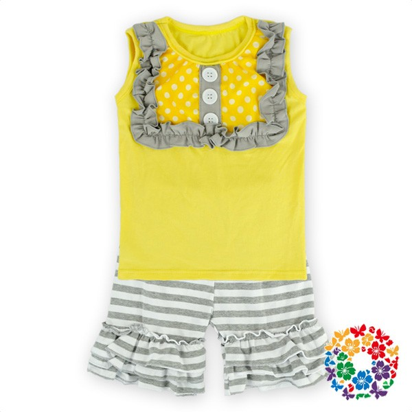 2 Pcs 4th Of July Baby Girls Outfits Kids Tank Tops And Ruffle Shorts Clothes Set Childrens Boutique Clothing Summer 2016