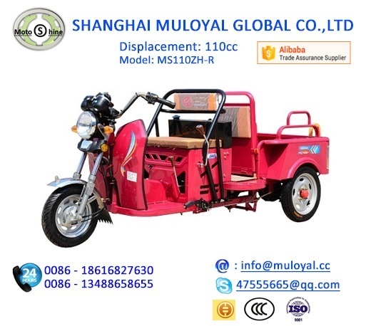 Primium Quality 110cc Displacement Motorcycle Truck 3 wheel Tricycle for Sale