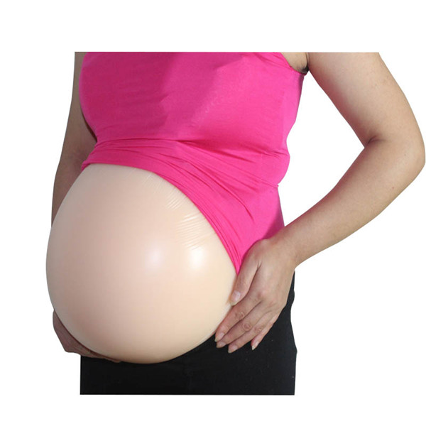 Skin or Brown Color Best Silicone Artificial Tummy Natural Soft Good Fake Pregnant Belly Direct Manufacturer