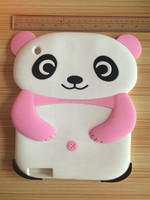 2015 Cute 3D Cartoon Soft Silicone Panda Back Case Cover for iPad 2 3 4