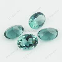 Different Kind Of Stones Synthetic Oval Shape Loose Glass Gemstone