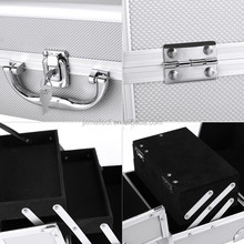 high quality silver instrument aluminum tool case tool box barber case