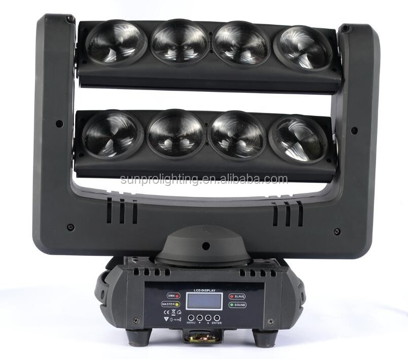 colour mixing two stairs led moving head lights 8x10w rgbw