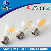 UL CE approval filament led 120V 230V dimmable e27 6w led filament bulb light