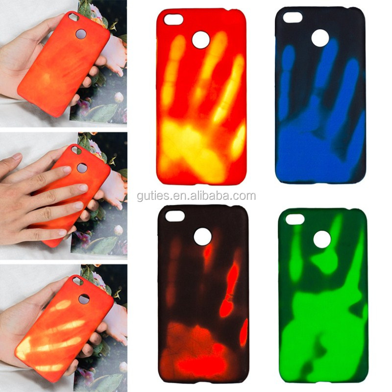 New Temperature Sensing Change Color Phone Cover Case for redmi 4x Matte PC Thermal Heat Induction phone case