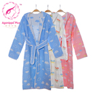 Organic cotton patterned cotton Cartoon bathrobe bath towels