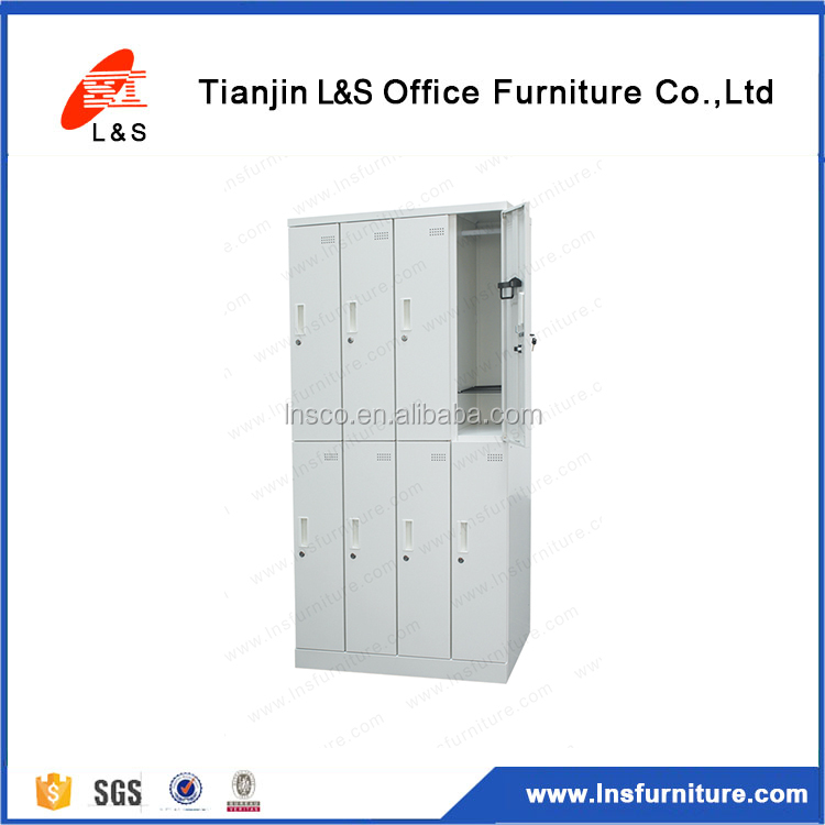 Latest Design Commercial Use High Quality 8 Door Wardrobe