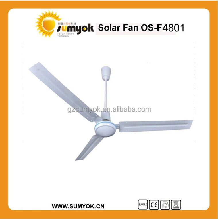 "Trade Assurance 48"" DC AC ceiling fans/solar fans with good quality for household"