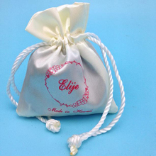 New Style Most Popular small Drawstring Satin Pouch For Gift Packaging