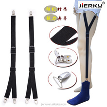 Adjustable Elastic Shirt Stays Garter Straps Sock Suspenders for Men