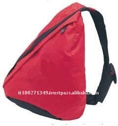 High Quality Polyerster Red Travel Blank Backpack