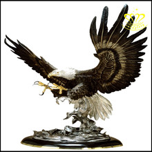 Home Decoration China Bronze resin Eagle Statue sculpture