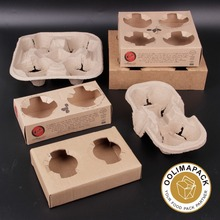 Flight 4 Cup Beverage Carrier,cardboard take away coffee cup holder