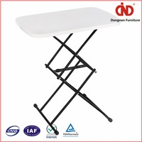 Factory Direct Solid wood hand carved blow molding outdoor plastic folding table