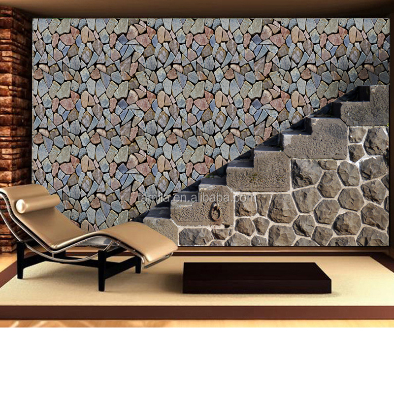 3d stone design beautiful wallpaper PVC waterproof wallpaper for living room