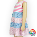 Summer Plaid Baby Girl Dresses Wearing Sleeveless Patterning Skirt Designs For Young Girls