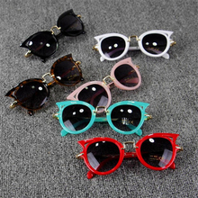 Fashion kids <strong>plastic</strong> <strong>Sunglass</strong> UV400 protection cat eye shape <strong>sunglasses</strong> for girls