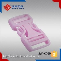 Durable colored plastic bag accessories POM side release belt buckle, strap buckle for backpack JW-K099