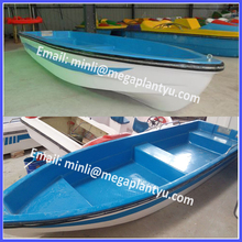 3.6m and 4.2m 4-7 person FRP fiberglass hand rowing boat for sale